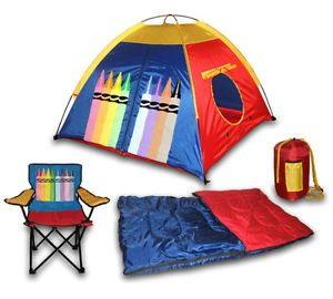 Pop Up Kids Toddler Childrens Boys Girls Play Dome Tent House Chair Sleeping Bag