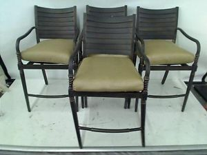 Hampton Bay Madison Patio High Dining Chairs Set of 4 Chairs Only