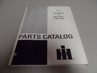 International Equipment for Cub Cadet Tractor Parts Catalog Manual