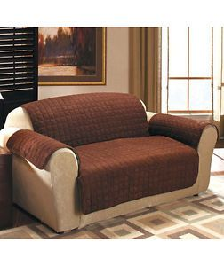 Quilted Sueded Furniture Covers Protector Pet Throw Sofa or Loveseat or Chair