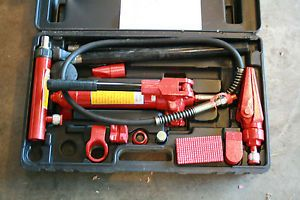 Pit Bull 4 Ton RAM Hydraulic Porta Power Body Frame Repair Kit Tools Auto Shop