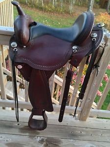"Circle Y Flex Tree Western Saddle Full Quarter Horse Bars 16"" Seat"