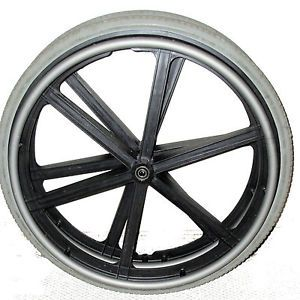 "2 22"" Quickie Invacare Wheelchair Flat Free Rubber Wheel Solid Rear Tires Rim"