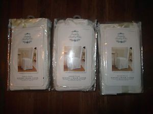 3 New Simply Shabby Chic by Rachel Ashwell Dining Chair Covers