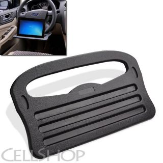 Car Truck Steering Wheel Laptop iPad Travel Desk Beverage Holder Food Tray Black