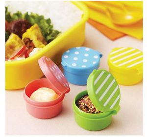 Bento Cups with Lids Stripes and Polka Dots Bento Box Accessories