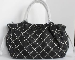 Kate Spade New Sew Be It Stevie Baby Bag Retail $398 Black Creme WKRU1520