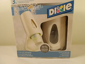 3 oz Dixie Cup Counter Top Stand Wall Mount Dispenser Retro Mod Space Age