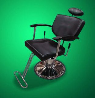 New Mtn Extra Wide Barber Salon Spa Beauty Hydraulic Recline Chair Black BLK80