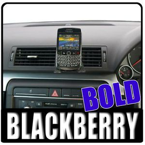 Car Vent Mount PU Holder for The Blackberry Bold 9700