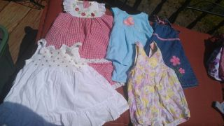 Mixed Lot Baby Girl 12 Month Outfits Tank Top Dress One Piece Denim Blue Jean