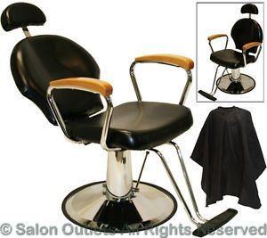 All Purpose Natural Oak Hydraulic Reclining Barber Chair Shampoo Salon Equipmen