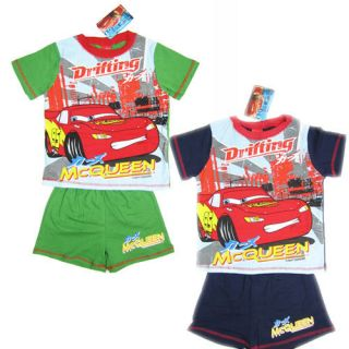 1 8 Years Baby Toddler Kids Boys 2 Pcs McQueen Tee Shirt Shorts Set FA3202
