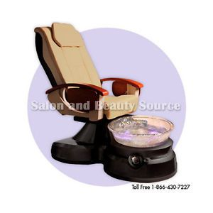 Lenox Pedicure Spa Unit Foot Chair Glass Bowl Massage