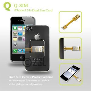 Details about Q SIM QSIM Dual SIM Card Double SIM Adapter For iPhone 4