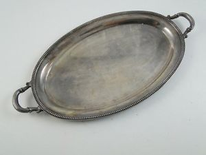 Vintage Ronson Silver Plated Lighter Ashtray Desk Tray Platter Plate Old Retro