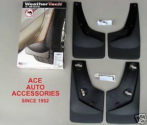 2007 2013 GMC Sierra Premium Custom Fit Molded Mud Flaps No Drill Mount 4 PC Set
