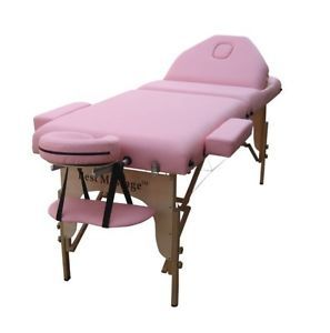 Pink Portable Reiki Massage Table Tattoo Spa Beauty Facial Bed Supply Chair U9
