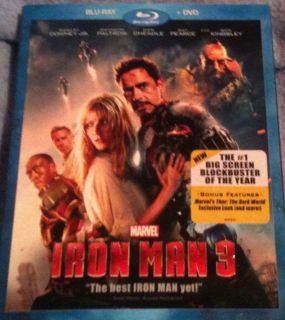 Iron Man 3 Blu Ray DVD 2DISCSET Brand New Still in Plastics