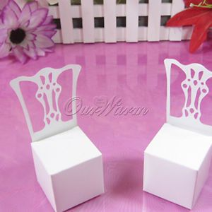100 White Chair Wedding Party Gift Favor Boxes Supplies