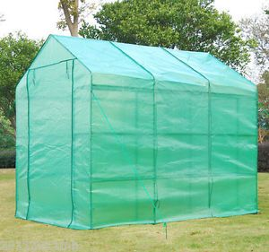 8' Portable Greenhouse Large 18 Staging 3 Level Green House Gardening