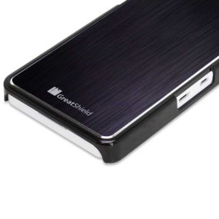Brushed Metal Aluminum Back Hard Shell Case Cover Skin for Blackberry Z10 Black