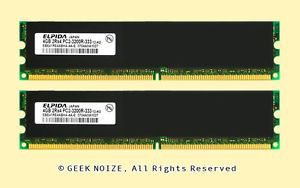 Server RAM 8GB 2X 4GB ECC Reg DDR2 PC2 3200R DDR2 240pin Memory Fits Dell HP IBM