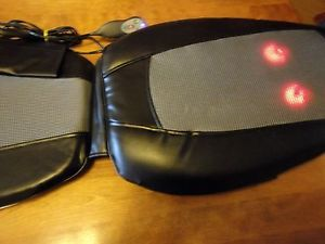 Homedics SBM 200H Shiatsu Back Massager Chair Seat Massage Cushion with Heat