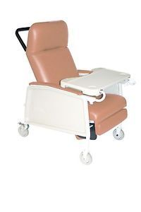 Bariatric 3 Position Geri Chair Recliner with Locking Wheels Side Tray D574EW R