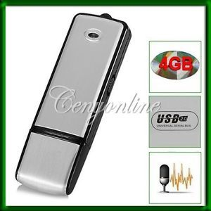 Spy 4GB 4G USB Pen Flash Drive Digital Audio Voice Recorder Recording Dictaphone