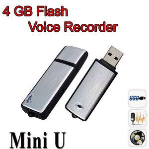 New Mini 4GB USB Spy Portable Digital Voice Recorder Flash Drive Memory US SHIP