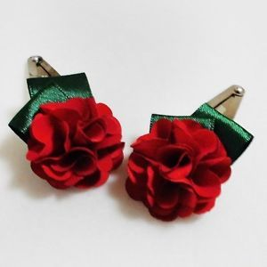 Red Flower Hair Clip 2pcs Babys Toddler Girls Kids Hair Accessories