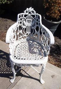 Vintage Victorian Ornate Wrought Iron Chair