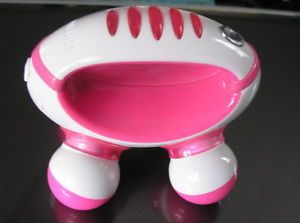 Homedics Pink White Hand Held Mini Massager Battery Operated