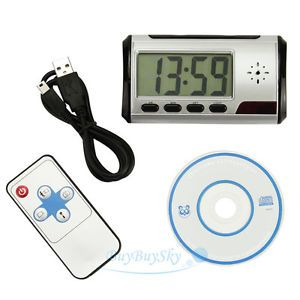 Mini HD Video DVR Digital Alarm Clock Nanny Camera Recorder Motion Detector DV