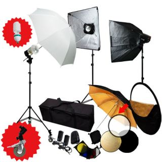 Photography Studio 755W Monolight Flash Strobe Lighting Kit with Carrying Case