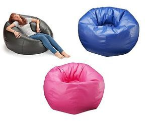 "132"" Round Extra Large Loungy Bean Bag Chair Kid Teen Room Lounge Seating Comfy"