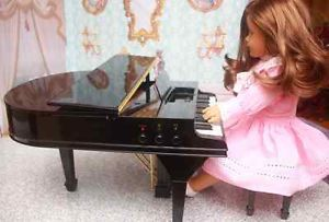 American Girl Accessory Toy Baby Grand Piano Music