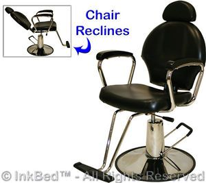 Tattoo Hydraulic All Purpose Reclining Barber Chair Ink Parlor Salon Equipment