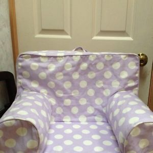 Pbk Pottery Barn Kids Anywhere Chair Slip Cover Lilac Purple Polkadots Dots