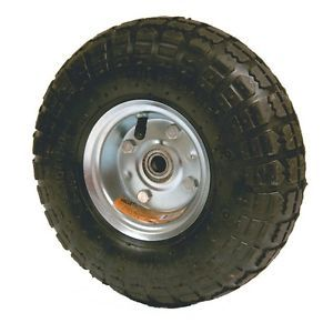 "Replacement 10"" inch Rubber Air Filled Wheel Tire for Hand Truck Dolly or Cart"