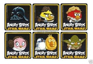 12 Angry Birds Star Wars Stickers Kid Party Goody Loot Bag Filler Favor Supply