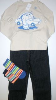 New Boys Outfit 4T Gap Monster Shirt OshKosh Jeans 4 T