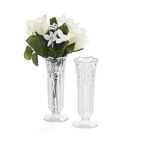 "12 Plastic Bud Vases 6"" Wedding Party Supplies"