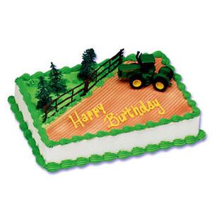 John Deere Farm Tractor Cake Decorating Kit Topper Bakery Supplies Party Set