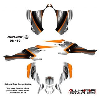 Can Am DS450 BRP Graphics Decal Sticker Kit 7900 Orange