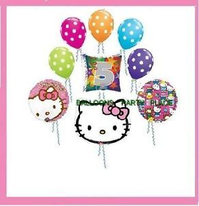 Hello Kitty 5th Fifth Birthday Balloon Party Supplies