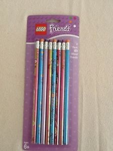 New Lego Friends Pencils 8 PK Wooden NO2 Party Favors Supplies School SEALED NIP