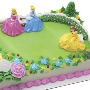 Disney Princess Garden Royalty Cake Kit Topper Birthday Party Supplies Set