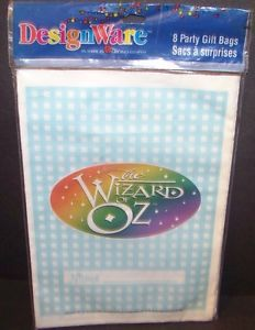 The Wizard of oz Birthday Party Bags 8 Ct Gift Treat Goody Favor Sacks Supplies